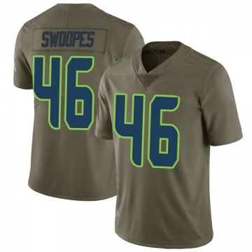 Youth Nike Seattle Seahawks Tyrone Swoopes Green 2017 Salute to Service Jersey - Limited