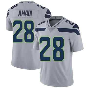 Youth Nike Seattle Seahawks Ugochukwu Amadi Gray Alternate Vapor Untouchable Jersey - Limited