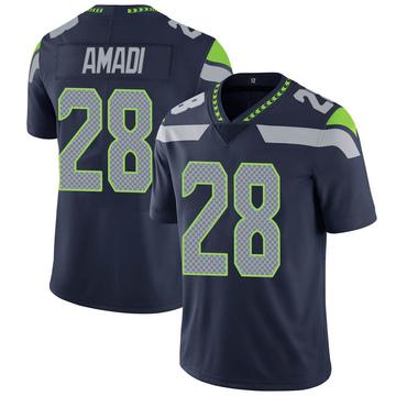 Youth Nike Seattle Seahawks Ugochukwu Amadi Navy Team Color Vapor Untouchable Jersey - Limited