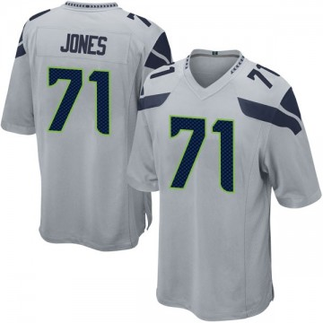Youth Nike Seattle Seahawks Walter Jones Gray Alternate Jersey - Game