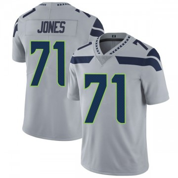 Youth Nike Seattle Seahawks Walter Jones Gray Alternate Vapor Untouchable Jersey - Limited