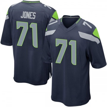 Youth Nike Seattle Seahawks Walter Jones Navy Team Color Jersey - Game